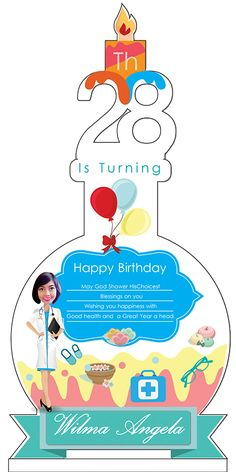 Design Acrylic Birthday 28 th