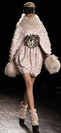 LET'S REMOVE THE GLASSES FOR ANOTHER OUTFIT  AND ROCK THE OUTFIT NOW    Sarah Burton for Alexander McQueen Autumn/Winter 2012