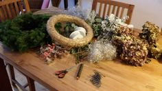 Making Christmas decoration for Haus Walser Berge