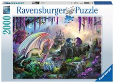 Dragon Valley 2000 pcs Puzzle Artist: Rose Khan Challenge yourself with a 2000 piece Dragon puzzle from Ravensburger & Rose Khan! Assemble the pieces to get a an exclusive peek at a magical valley inhabited by dragons and mystical creatures. 2000 Piece Puzzle, Dragons, Disney Puzzles, Ravensburger Puzzle, Kings Game, Science Kits, Fantasy Images, Create Photo, Gaming
