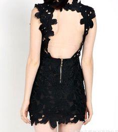 Sexy backless lace dress #GD102302