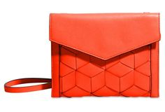 Wanderer Leather Crossbody, Tomato Red