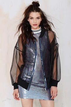 Ragged Priest Sheer Force Chiffon Bomber Jacket | Shop Clothes at Nasty Gal!
