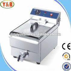 Commercial Electric 20L Deep Fryer w Timer and Drain Stainless Steel French Fry