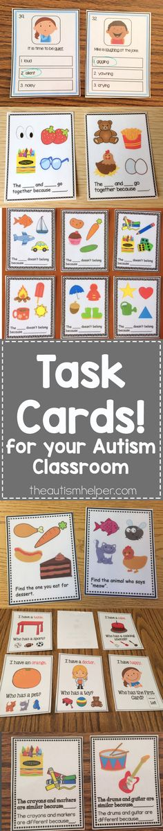 Start of the year is the perfect time to get vocabulary & grammar boards/cards ready for your year! Check out Sarah's task card overview on the blog!!! From theautismhelper.com #theautismhelper