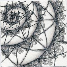 Antonine Tangles: da-da-da-DAH-da-dah: Bi-ZEN-tennial by Antonine Koval Tangle Doodle, Tangle Art, Zen Doodle, Doodle Art, Zentangle Drawings, Doodles Zentangles, Doodle Drawings, Doodle Patterns, Zentangle Patterns