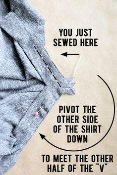 How to make a v-neck t-shirt {sewing pattern and tutorial} - It's Always Autumn