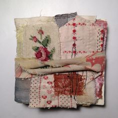 """528 gilla-markeringar, 44 kommentarer - Tina Jensen (@tinajensenart) på Instagram: """"this is how the little journal looks like finished - with a mix of different and strange pages…"""" Fabric Art, Textile Art, Reusable Tote Bags, Textiles, Stitch, Journals, Instagram, Magazines, Full Stop"""