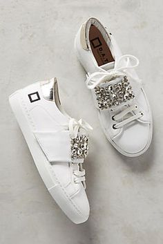 D.A.T.E. Newman Embellished Strap Sneakers