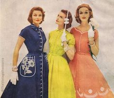 Toni Todd dresses 1954. Ooh, these ladies look very classy, indeed. Love their style.