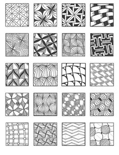 Tangle Patterns | grid 8 | Emily Perkins (enajylime on Flickr)