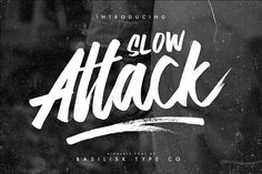 Slow Attack - Double Fonts by Basilisk Type Co. on @creativemarket