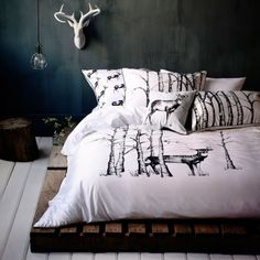 Quilt Covers & Coverlets Birch Forest Bedroom Love this!! <3