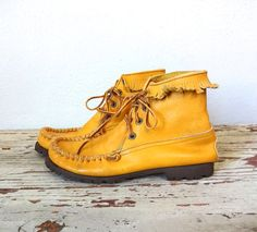Vintage FRINGE Boots / 1970s Boots / Lace Up by BluegrassBooty, $38.00