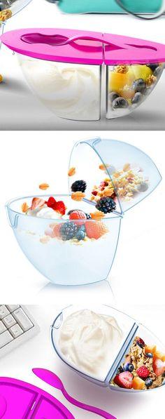 Flip n' Pour Yogurt Container //