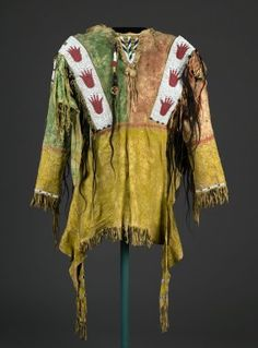 Brooklyn Museum: Arts of the Americas: Decorated Shirt, Sioux. 1801-1900. Dick S. Ramsay Fund.