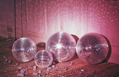 disco balls as party decor
