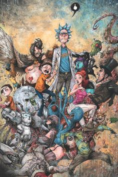 Trippy Wallpaper, Neon Wallpaper, Cartoon Wallpaper, Iphone Wallpaper Rick And Morty, Rick And Morty Tattoo, Rick And Morty Drawing, Rick And Morty Image, Ricky Y Morty, Rick And Morty Characters