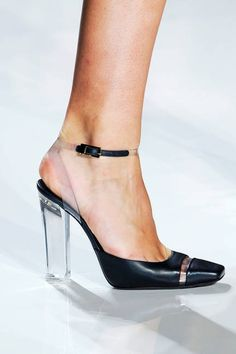 LOVE the shoe - not too sure how I feel about the clear heel though....