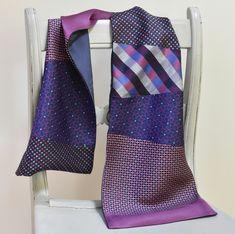 Clean And Press, Cerise Pink, Diy Scarf, Mens Silk Ties, Kimono Fabric, Vintage Kimono, Royal Blue, Boho Chic, Scarves