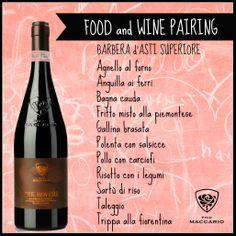 #wine #food #pairing #barbera #asti #picomaccario