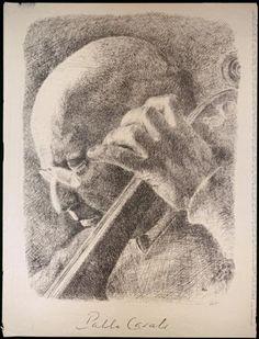 Pablo Casals by Lorenzo Homar
