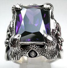 Amethyst Dragon Claw Ring