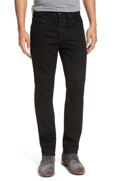 7 For All Mankind® Slimmy Slim Fit Jeans (Towne Black) available at #Nordstrom