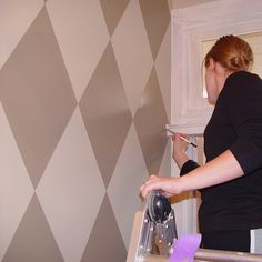 How To Create a Harlequin Paint Treatment: Diamonds are a Girl's Best Friend