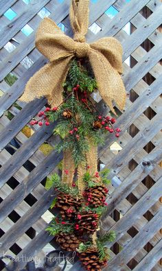 Rustic Primitive Pinecone Cluster Swag Bunch by KreativelyKrafted, $45.00