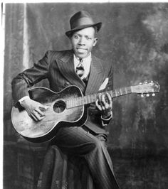 Robert Johnson  (May 8, 1911 - August 16, 1938)  Legendary blues guitarist and songwriter
