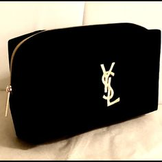 7eba3ce642a2 Spotted while shopping on Poshmark  YVES SAINT LAURENT black velvet makeup  bag 💄!  poshmark  fashion  shopping  style  Yves Saint Laurent  Handbags