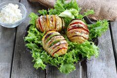 Recette - Pommes de terre à la suédoise aux poivrons et fromage frais en vidéo