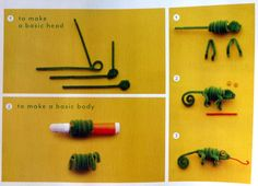 Chameleon Pipe Cleaner Pals {from Martha Stewart's Favorite Crafts for Kids Book}