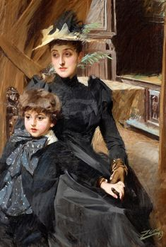 colourthysoul: Anders Zorn - Mrs Weguelin with son (1889)