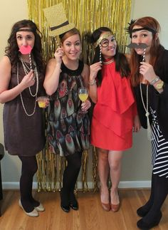 The ultimate diy new years eve party photo booth party photos and roaring 20s party photo booth props solutioingenieria Images