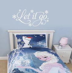 Let It Go Frozen Inspired Vinyl Wall Decal by DazzlingDecals