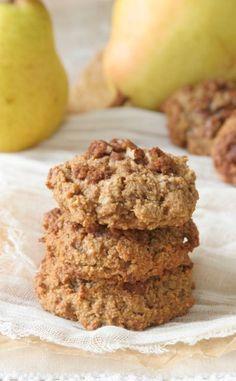 Pear Coffee Cake Cookies at www.DailyBitesBlog.com #grainfree #glutenfree
