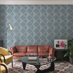 Appiani's Metrica collection focuses on harmonious geometric flow with the use of mosaics. The 4 colour variants and pattern