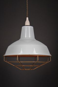 New modern dandy enamel vintage Cage shade by CreativeCablesAus