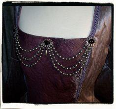 Bodice renaissance jewelry - Black