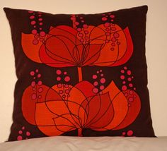 Vintage 1960s  Boras of Sweden 'Rio' pillow in by ClothHere, £20.00