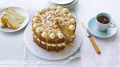 Nadiya's mango and coconut cake recipe - BBC Food Nadiya Hussain Recipes, Cake Recipes Bbc, Brownies, Mango Cake, Pudding Cake, Coconut Recipes, Round Cakes, Cake Tins, So Little Time