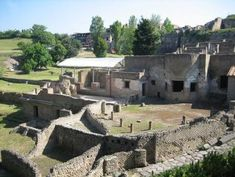 *OUTSIDE POMPEII MARINA GATE ~ The complex has two storeys, the bottom floor being used as a public baths while the upper floor consisted of three apartments. These baths are much smaller than the bath complexes in Pompeii itself. Like the Suburban Thermae in Herculaneum there is no sign of a women's section. Either men and women shared these facilities, using the baths at different times of the day or different days of the week, or they were for men only.