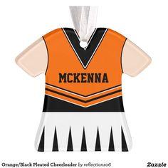 Orange/Black Pleated Cheerleader