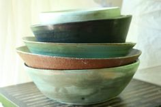 Pile of bowls.