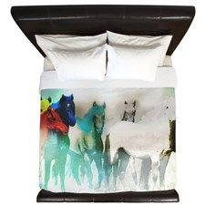 7 Seven Horses King Duvet for
