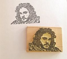 Game of Thrones inspired Hand carved Stamp... Jon Snow - King in the North