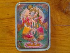 A lovely little vintage sweet tin from 1960's India. by Lallibhai, £10.00