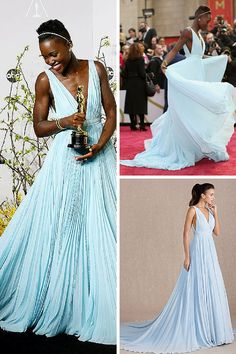 Swoon! A blue gown like the one Lupita Nyong'o wore to the 2014 #Oscars.